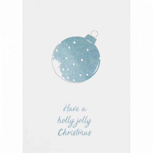 Christmas water color card Have a holly jolly christmas