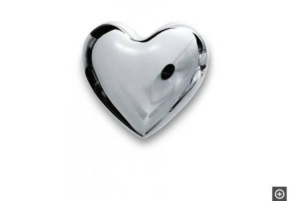 Klangherz metal heart with spheric sound, S