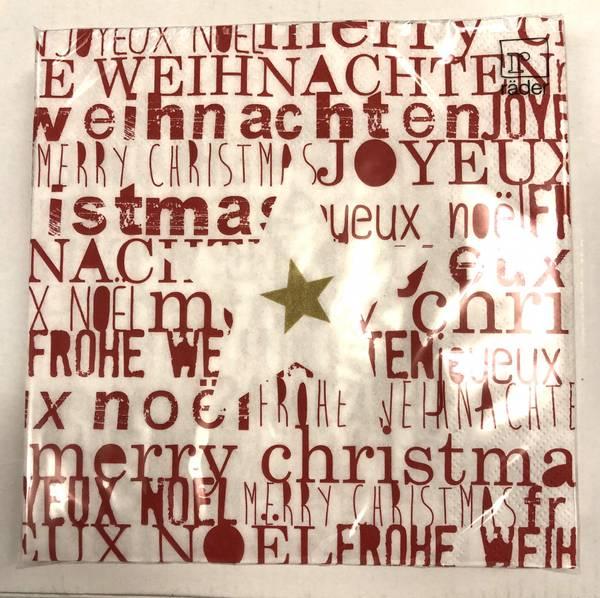 Napkin. Christmas 33x33cm