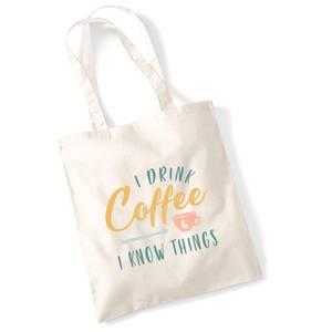 Bilde av Totebag I drink coffee..