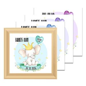 Bilde av Fødselsplakat Elefant -