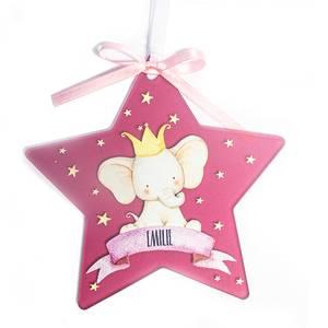 Bilde av Dekor stjerne elefant - Rosa