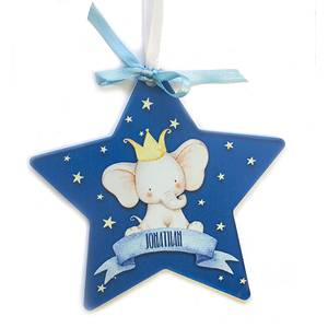 Bilde av Dekor stjerne elefant - Blå