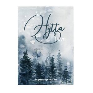 Bilde av Veggbilde Hytta skog