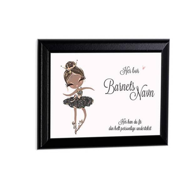 Veggbilde/Dørskilt 20x25 Ballerina