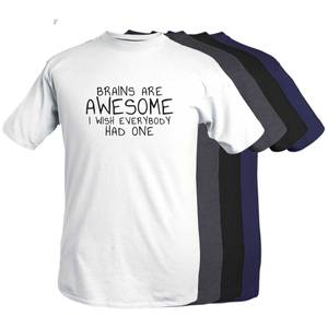 Bilde av T-shirt - Brains are awesome