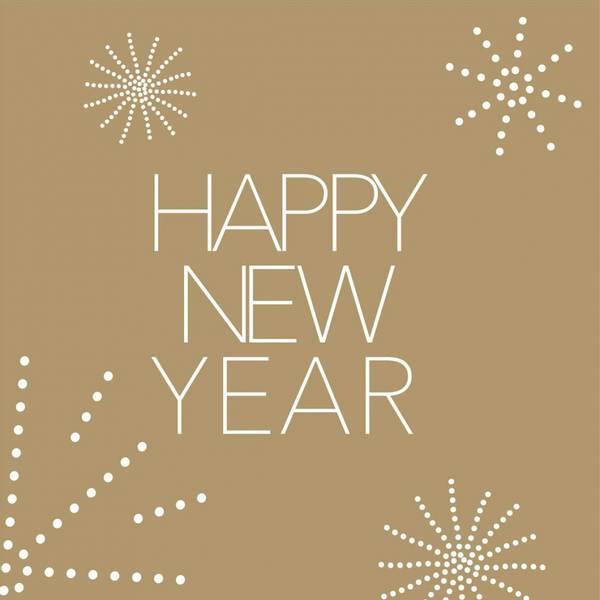 Napkin Happy New Year 33x33cm