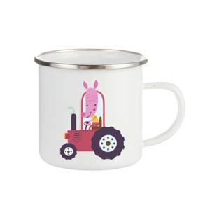 Bilde av Emaljekopp Gris i Traktor