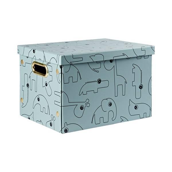 Done By Deer sammenleggbar oppbevaringsboks - blå
