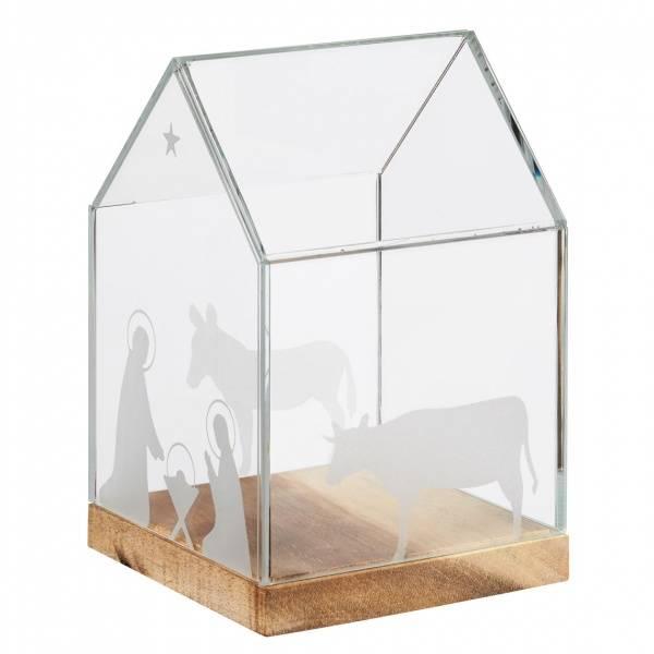 Glass house 11,5x11,5x16,5cm