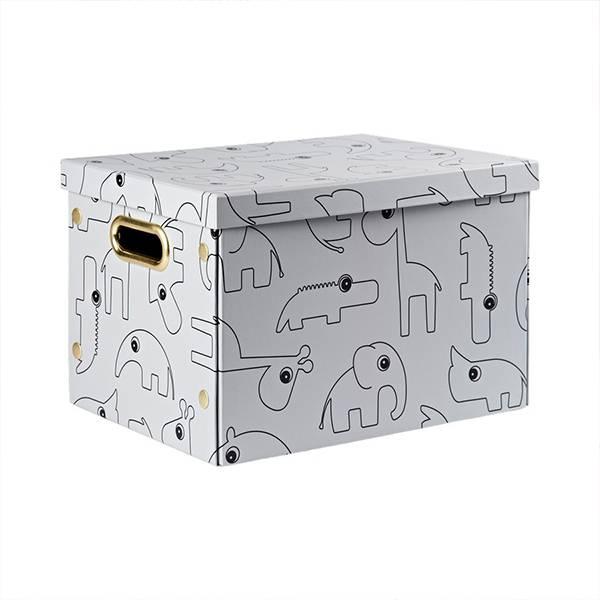 Done By Deer sammenleggbar oppbevaringsboks - grå