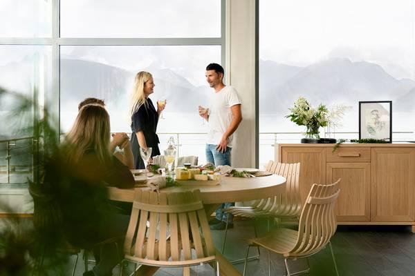 Bilde av Spisegruppe Ø110 m/ 6 Scandia Jr stoler