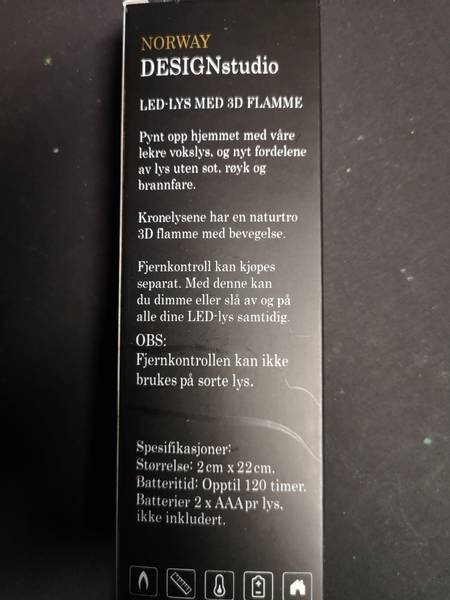 LED kronelys 2pak