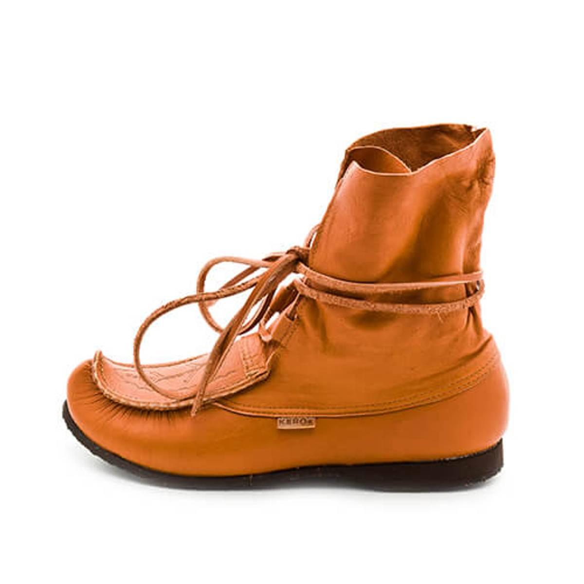 Kero sko for skallebånd- Rødbrun