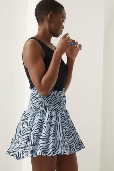Aaliyah Blue Skirt