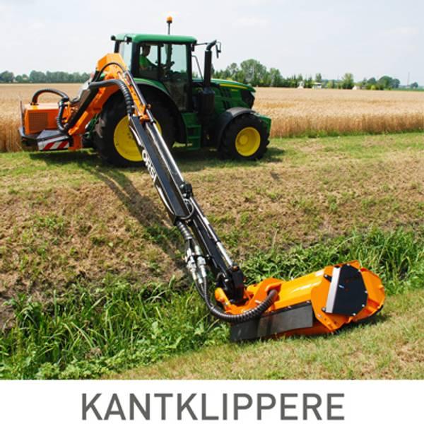 Beitepussere og kantklippere til traktor på arm