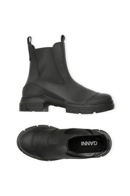 GANNI RECYCLED RUBBER BOOTS BLACK