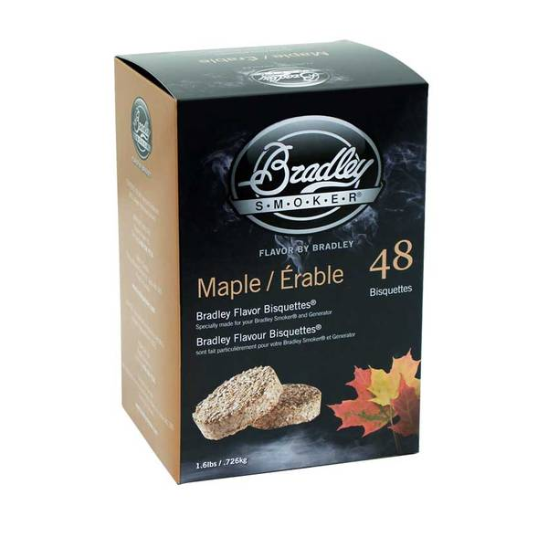 Bilde av 48 stk. Bradley Røykbriketter Maple(lønn)