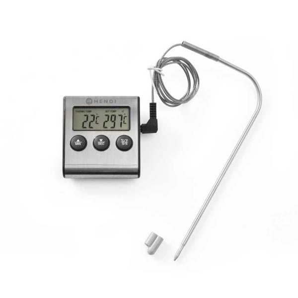 Bilde av Steke-termometer med timer/tidsur