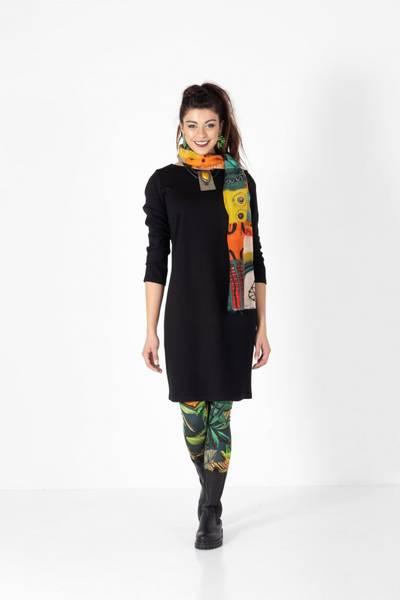 Bilde av Boheme kort kjole M/lang arm i black