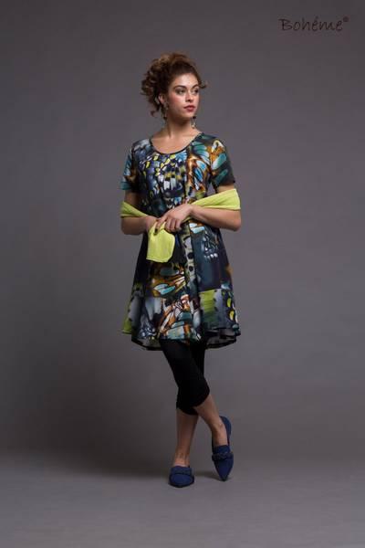 Bilde av Boheme kort kjole i blue