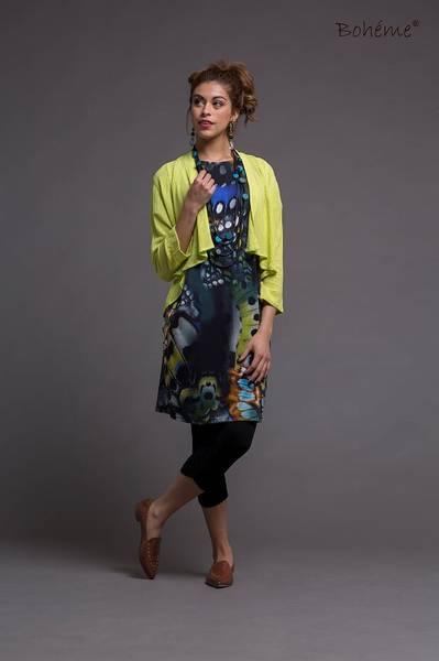 Bilde av Boheme kjole kort i blue