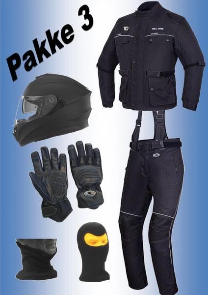 PAKKE 3:   jakke,bukse, hjelm,hansker,halsvarmere