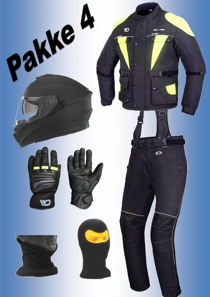 PAKKE 4   jakke,bukse,hjelm,hansker, halsvarmere