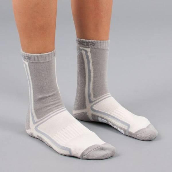 Bilde av 15 Mission 1/2 Athletic Socks-W-Wht/Grey