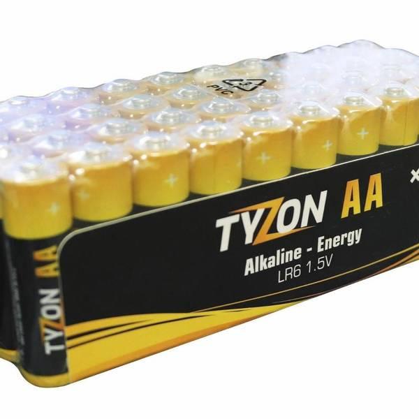 Bilde av 1,5 V AA alkaliske batterier, 40 stk.