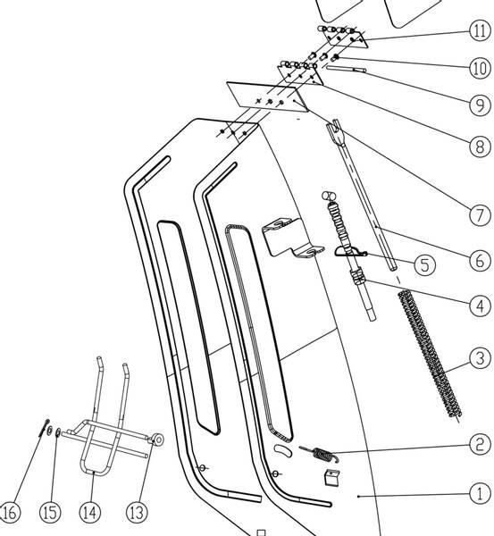 Bilde av 4. Utkaster regulerings wire