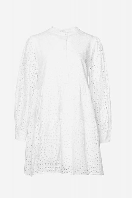 Bilde av Noella Alexa Dress Cotton Broderie White