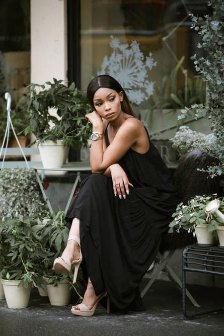 Bilde av MBYM LONG DRESS BLACK