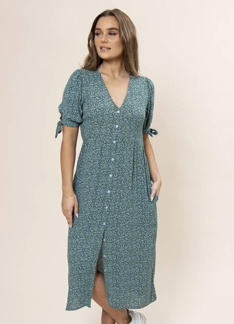 Bilde av MISSMAYA ANGELA DRESS SEA GREEN (PRE-ORDER: LEV.