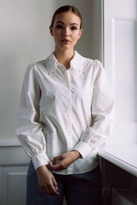 Bilde av Noella Lucille Shirt Cotton White Lace