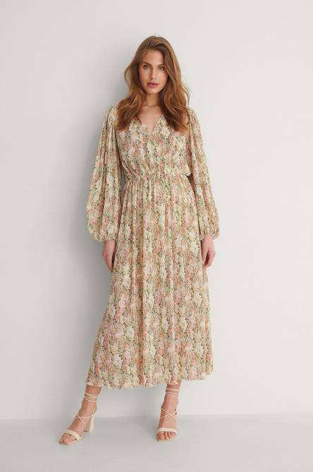 Bilde av BOHO BIG FLOWER PRINT DRESS