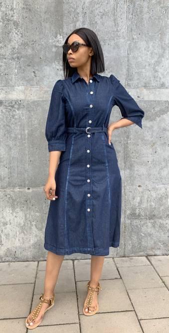 Bilde av GLOBAL FUNK TRISTA DENIM DRESS