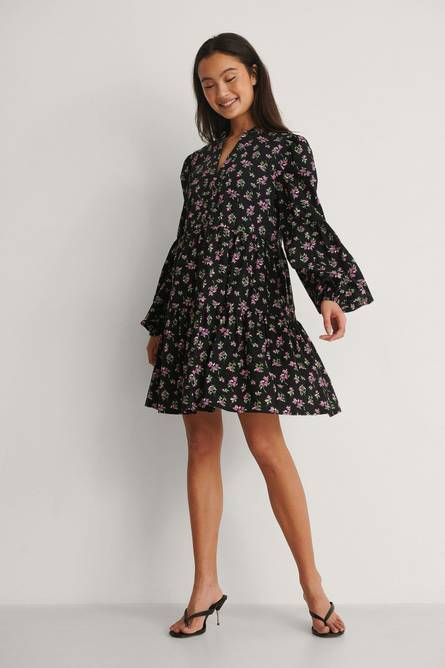 Bilde av NA-KD Long Sleeve A-line Mini Dress