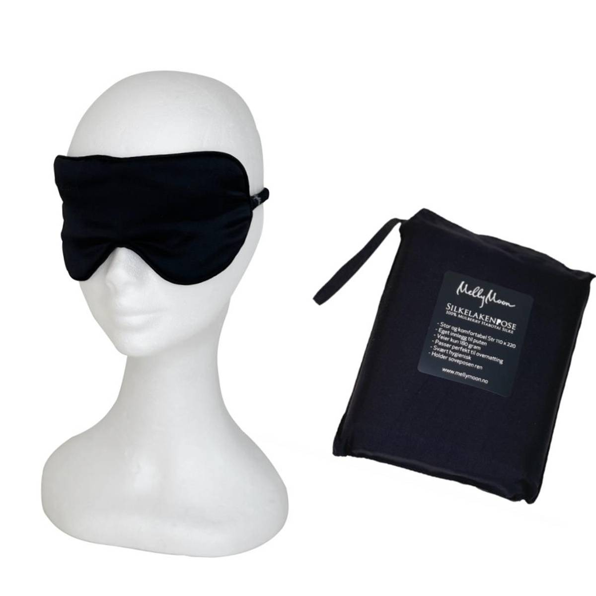 Silkelakenpose -sort pakke