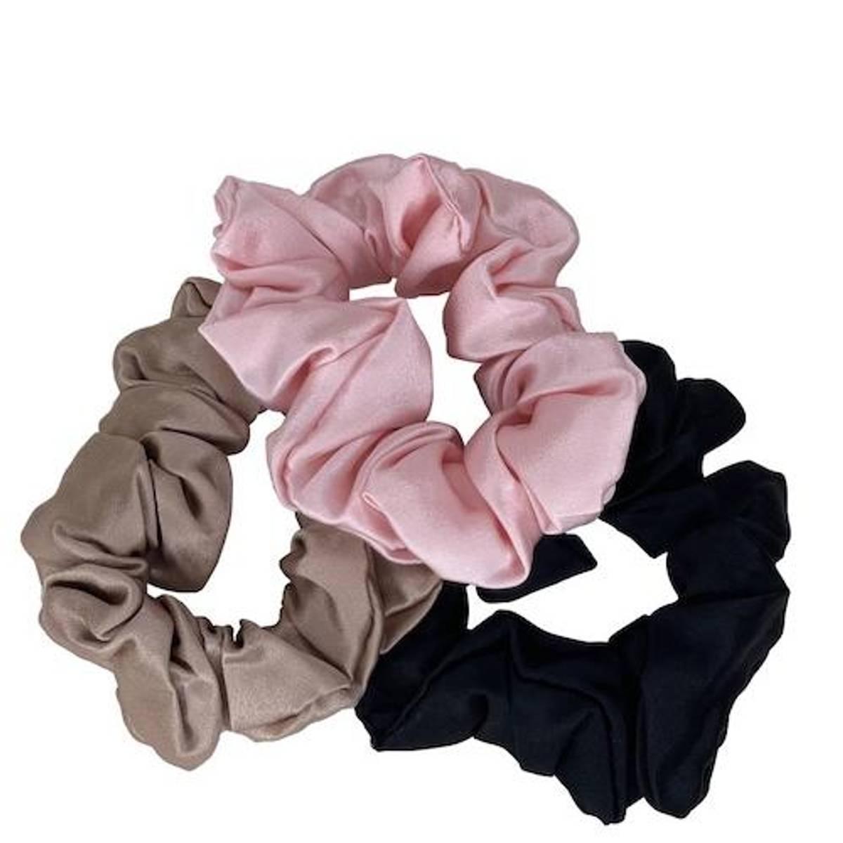Scrunchie - champ/sort/rosa