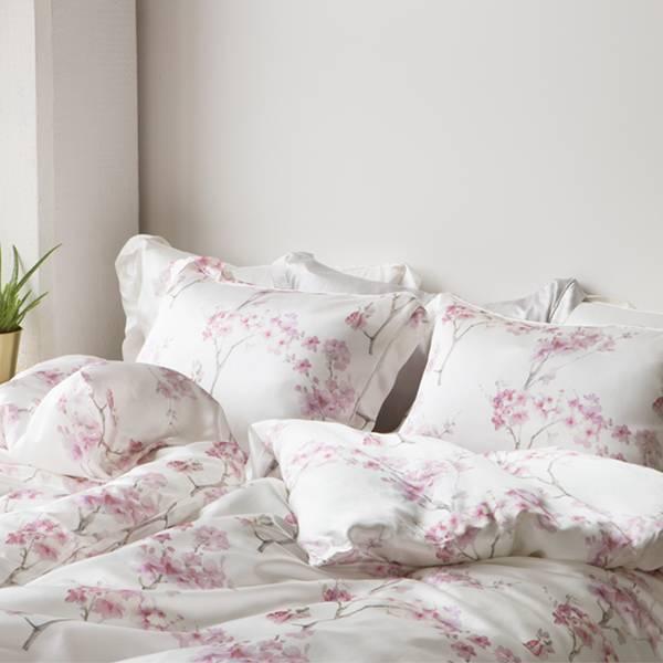 Bilde av Dynetrekk i silke - rosa