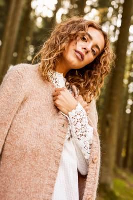 Bilde av CREAM - Listan Knit Cardigan i brun strikk