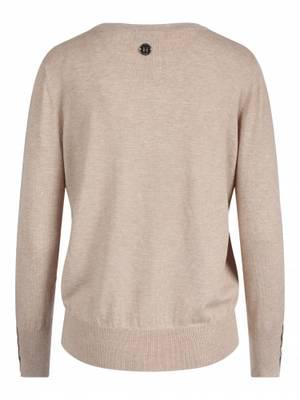 Bilde av HAUST - Button Short Pullover Sand Melange