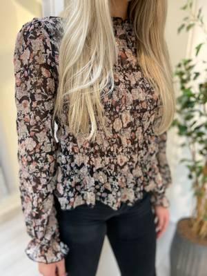 Bilde av CREAM - Bluse Polina i Black Flower Mix