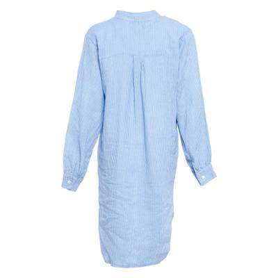Bilde av TIFFANY - Lang linskjorte Bright White Blue
