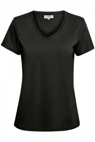 Bilde av CREAM - T-shirt Naia Pitch Black