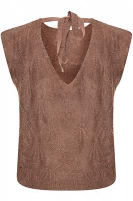 Bilde av CREAM - Vest Mary Knit Faded Brown