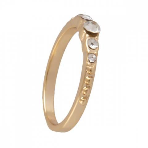Bilde av NORA NORWAY - Line Ring 17 Gold Clear
