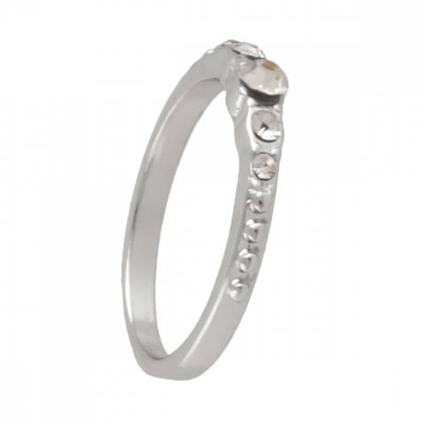 Bilde av NORA NORWAY - Line Ring 17 Silver Clear