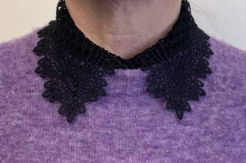 Bilde av NORA NORWAY - Collar Lace Small Black